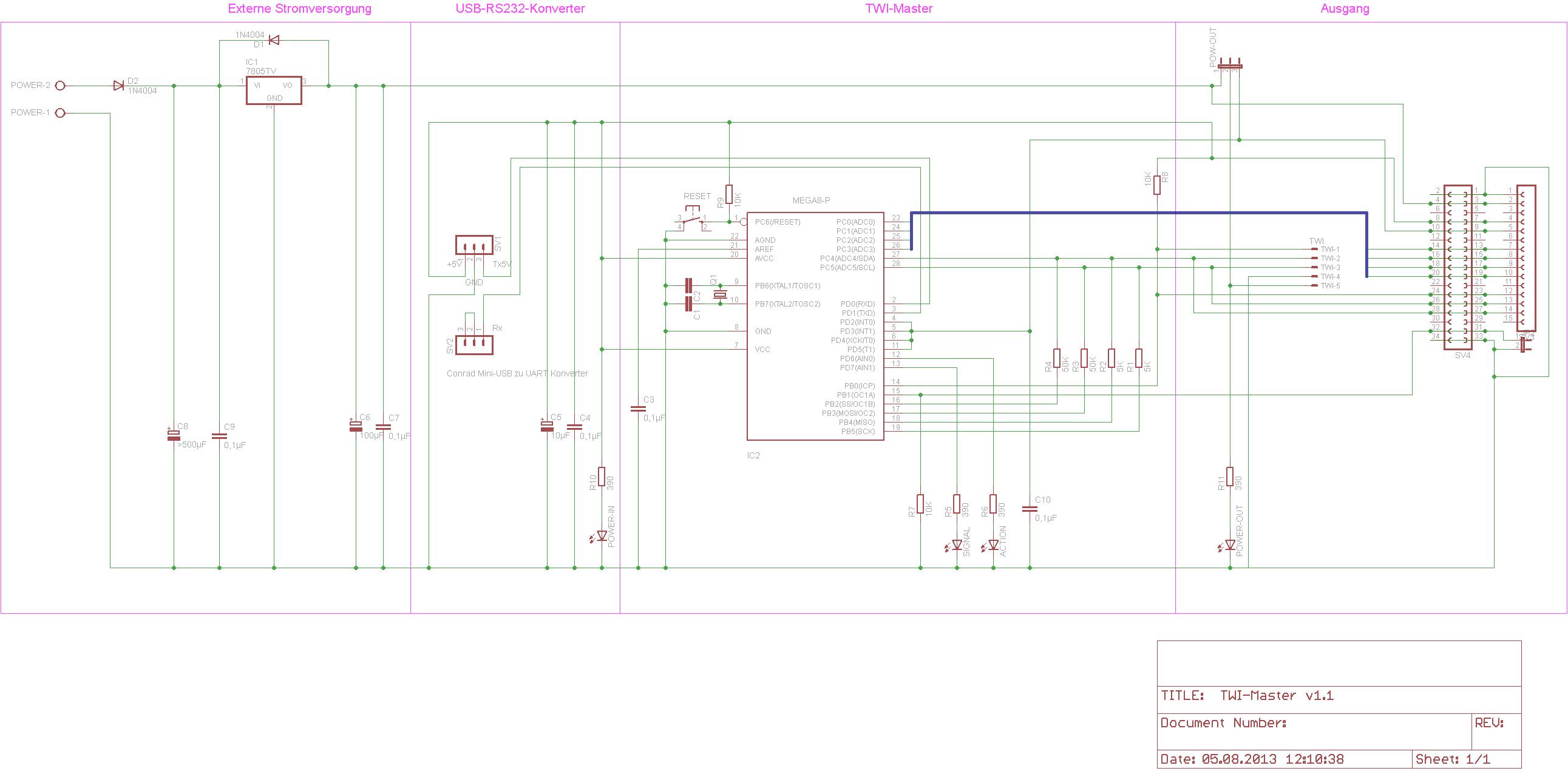 Ullis Roboter Seite/PC I²C-Adapter
